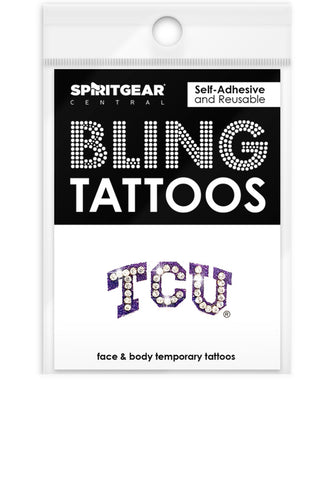 TCU Horned Frogs Bling Tattoos