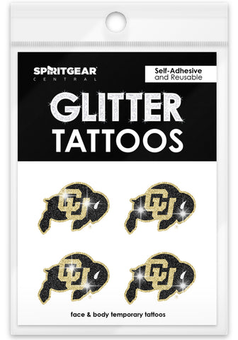 Colorado Buffaloes Glitter Tattoos 4 Pack