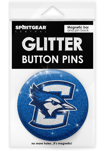 Creighton Bluejays Glitter Button Pins