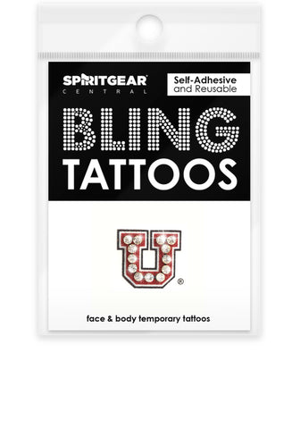 Utah Utes Bling Tattoos