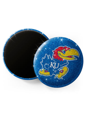 Kansas Jayhawks Glitter Magnets