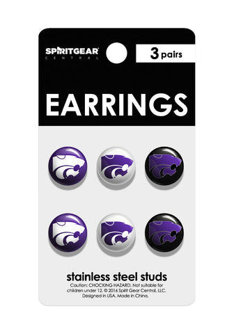 Kansas State Wildcats Stud Earrings - Spirit Gear Central