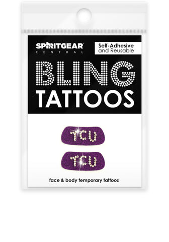 TCU Horned Frogs Bling Eye Blacks