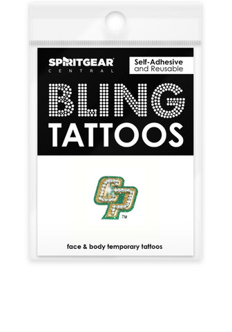 Cal Poly Mustangs Bling Tattoos