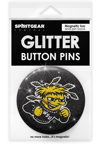 Wichita State Shockers Glitter Button Pins