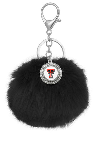 Texas Tech Red Raiders Pom Pom Keychains