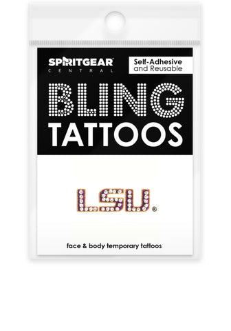 LSU Tigers Bling Tattoos