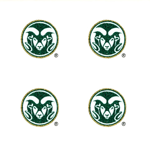 Colorado State Rams Glitter Tattoos 4 Pack - Spirit Gear Central