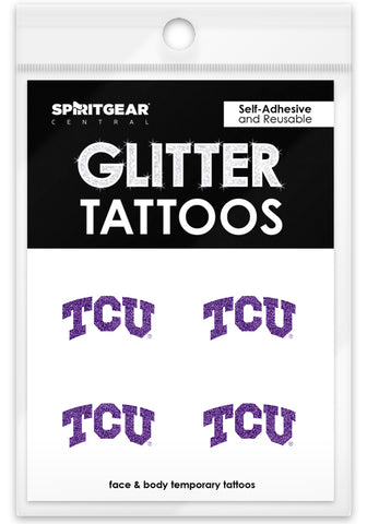 TCU Horned Frogs Glitter Tattoos 4 Pack