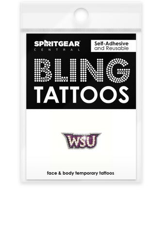 Weber State Wildcats Bling Tattoos