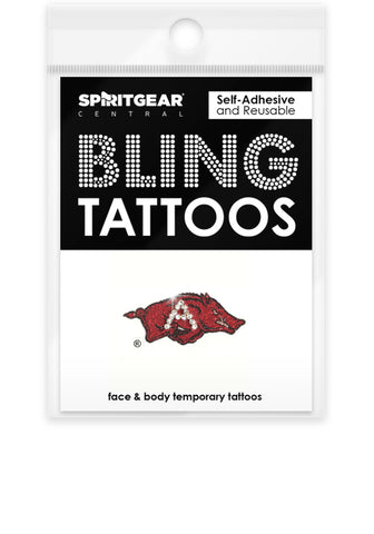 Arkansas Razorbacks Bling Tattoos