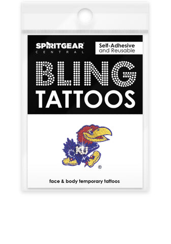 Kansas Jayhawks Bling Tattoos