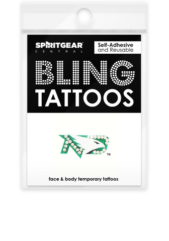 North Dakota Fighting Hawks Bling Tattoos