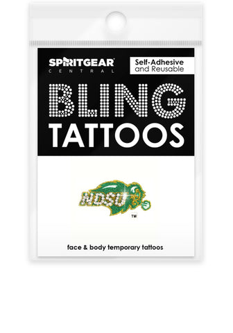 NDSU Bison Bling Tattoos