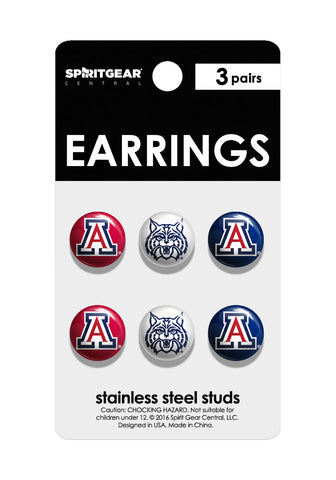 Arizona Wildcats Stud Earrings - Spirit Gear Central