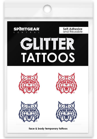 Arizona Wildcats Glitter Tattoos 4 Pack