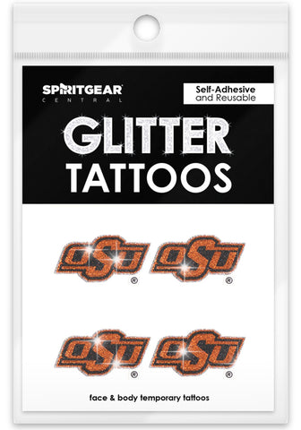 Oklahoma State Cowboys Glitter Tattoos 4 Pack