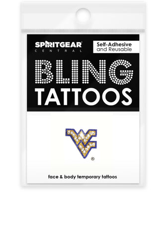 West Virginia Mountaineers Bling Tattoos