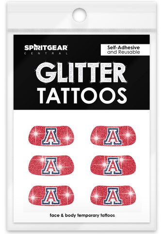 Arizona Wildcats Glitter Eye Blacks 3 Pack