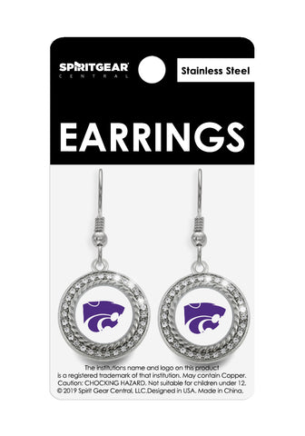 Kansas State Wildcats Dangle Earrings
