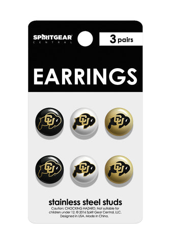 Colorado Buffaloes Stud Earrings