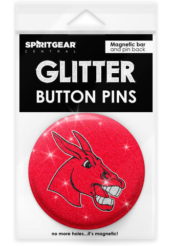 Central Missouri Mules Glitter Button Pins