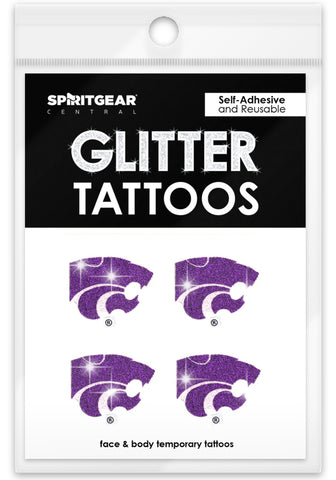 Kansas State Wildcats Glitter Tattoos 4 Pack