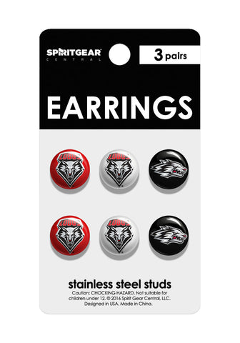 New Mexico Lobos Stud Earrings - Spirit Gear Central