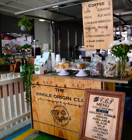 coffee cart brisbane flower markets