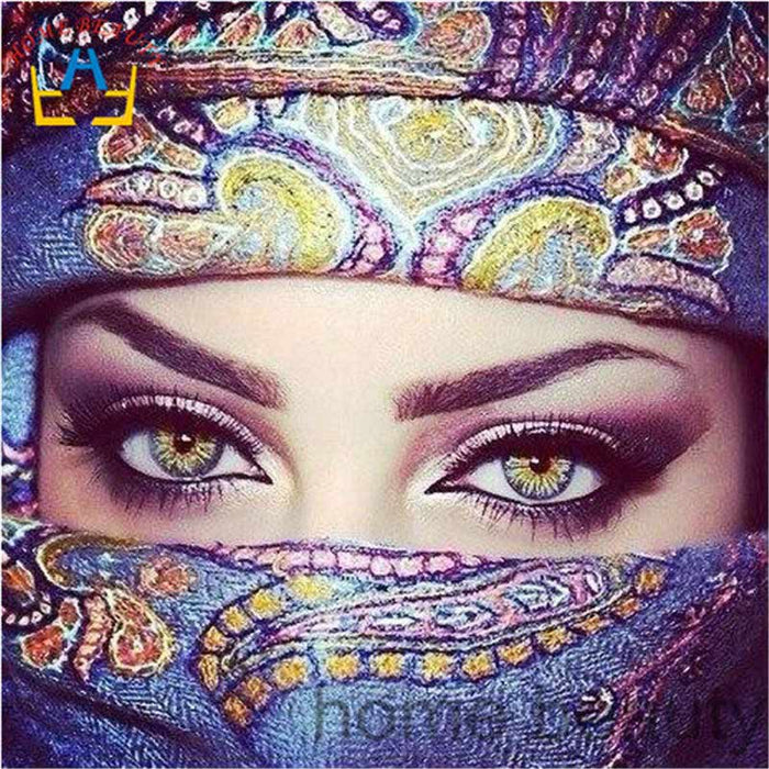 Arabic Eyes - Paint with Diamonds Kit
