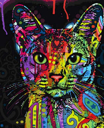 Retro Cat - Paint with Diamonds Kit