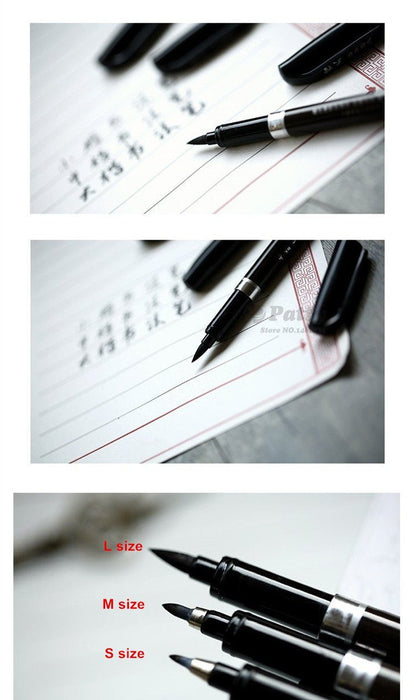 Japanese Calligraphy Brush Pens - 3 Pieces