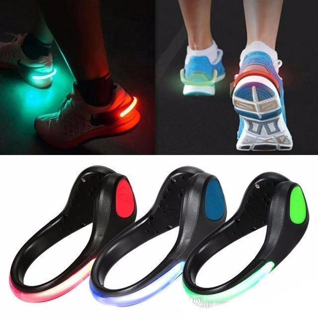 Clip-on Shoe Light for Greater Visibility and Safety (1 Pair)