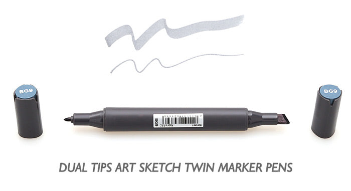 Grayscale Dual Head Art Markers