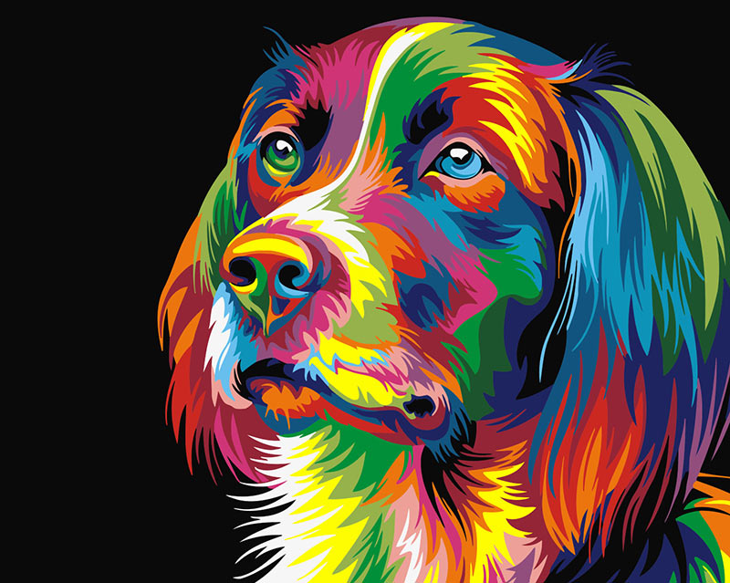 Dog Love - Paint by Numbers Kit