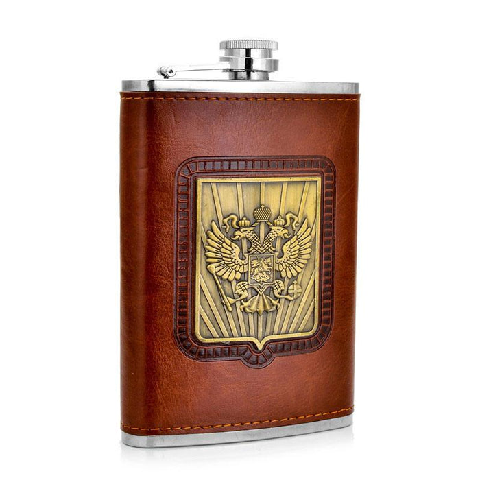 9oz Stainless Steel Hip Flask - Eagles of Necaron