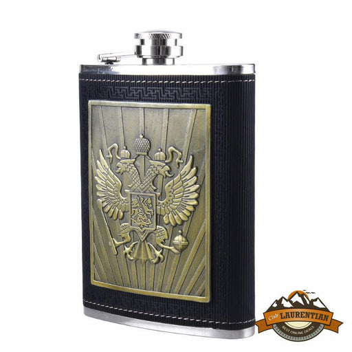 8oz Stainless Steel Hip Flask - Eagles of Necaron (Black)