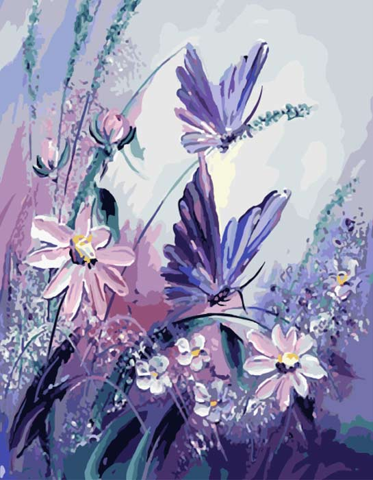 Purple Garden - Paint by Numbers Kit