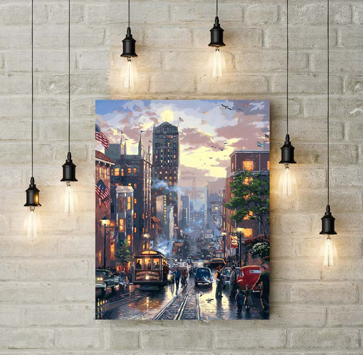 Downtown Evening - Paint by Numbers Kit