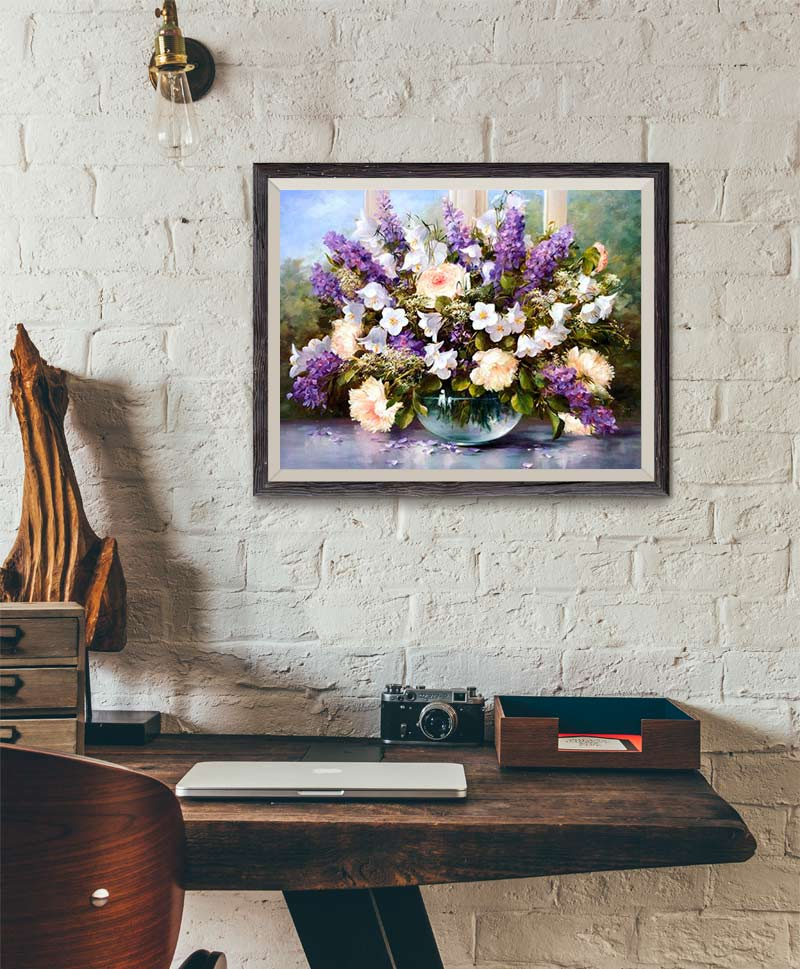 Purple Flowers - Paint by Numbers Kit
