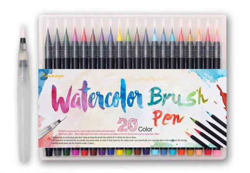 The NO-MESS Watercolor Brush Pens - 20 Piece Set