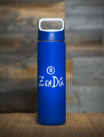 ZenDia Glass Bottle with Silicone Sleeve - Blue
