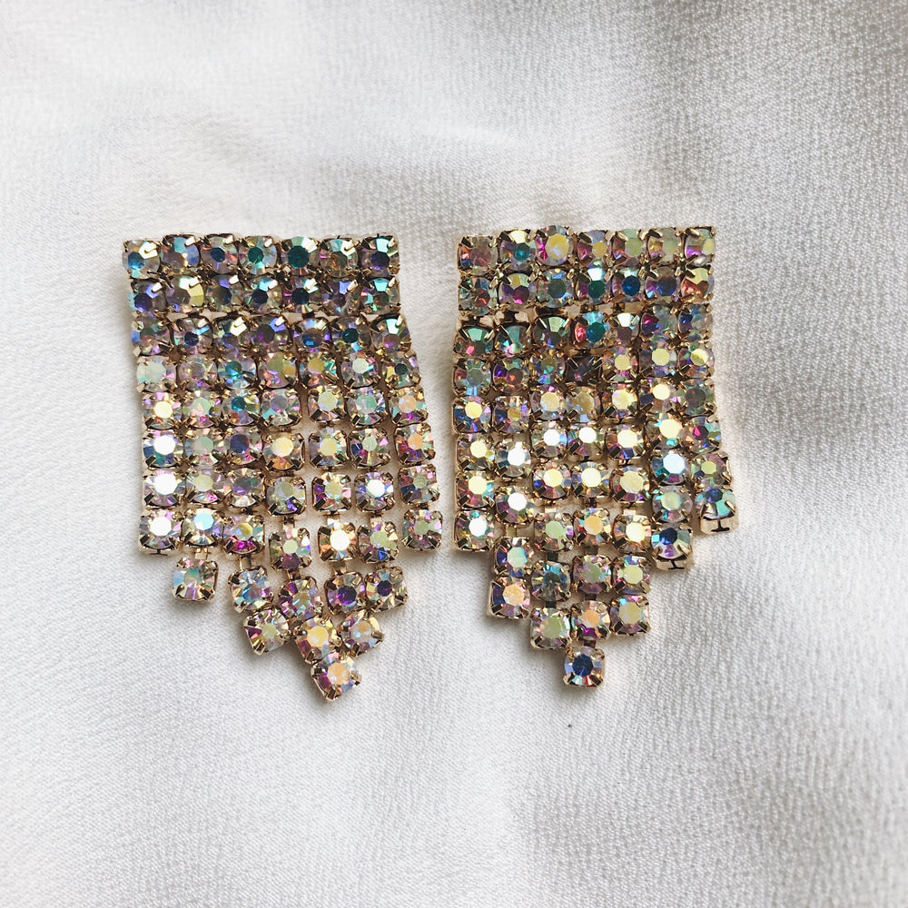 Elina Sparkle Fringe Earrings