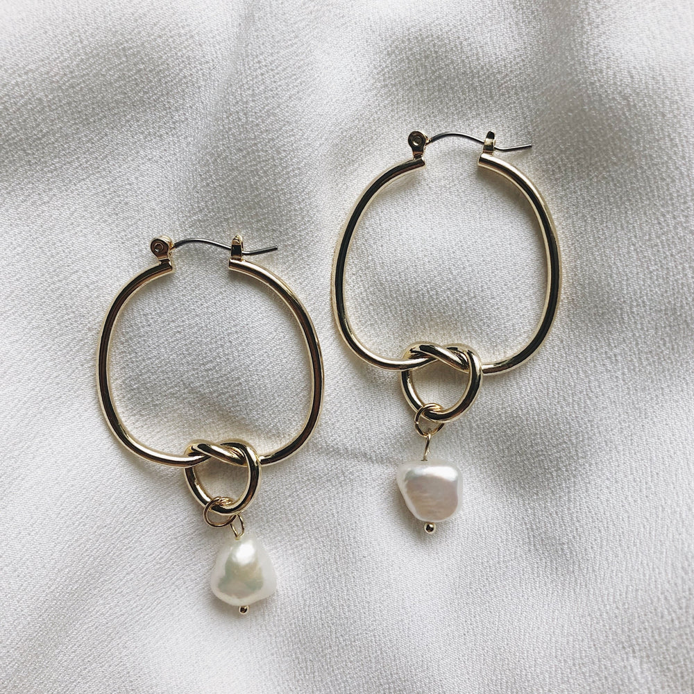 Elise Waterdrop Hoop Earrings