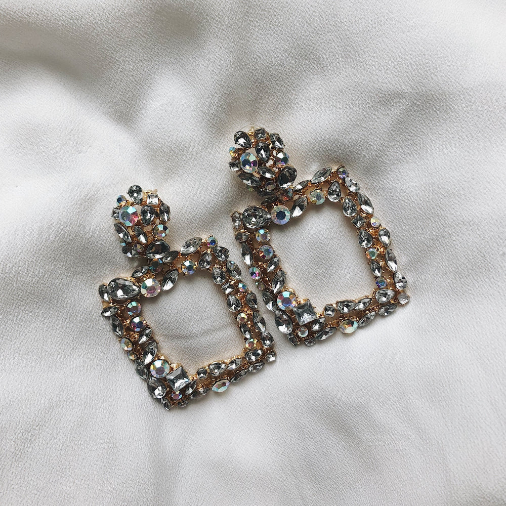 Marielle Square Sparkle Earrings