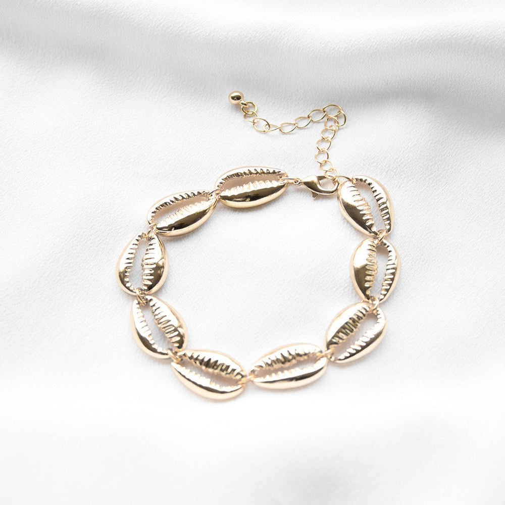 Amelia Gold Shell Conch Bracelet Bracelets 2019 Bracelets featured gold sea French Fiasco French Fiasco