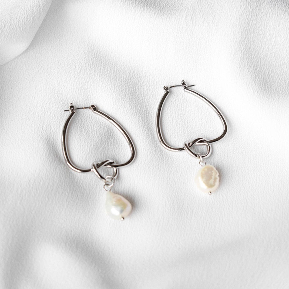 Elise Waterdrop Silver / Gold Hoop Earrings