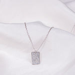 Emmy CZ Tiny Rectangle Necklace