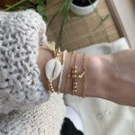 Monique Beaded Beige Ocean Bracelets (5 pcs / set)