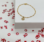 """You Are My Lucky Charm"" Mini Gold Bracelet"